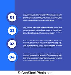 1, 2, 3, 4 steps, business infographics