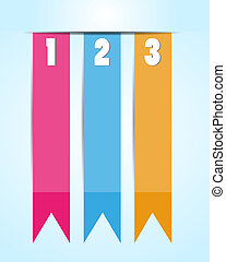 1 2 3 Option banner ribbons