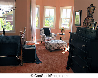 1, 2, -, luxe, chambre à coucher