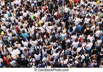 1, 2014, 七月, 抗議