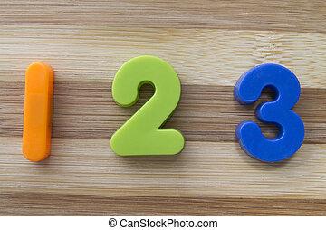 1, 3, 2, aimants, lettre