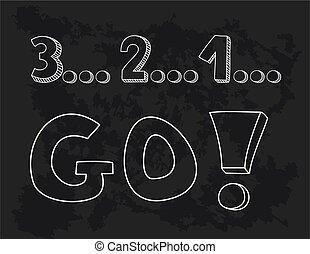 1, 3, 2, aller!, countdown: