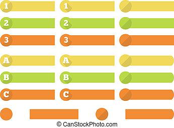 1 - 3 (A - C) progress labels