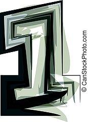 1, abstract, getal