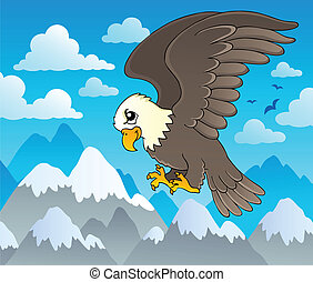 1, aigle, image, thème