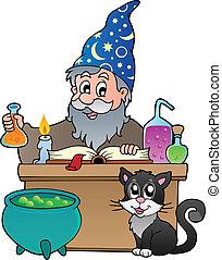 1, alchemist, thema, bild