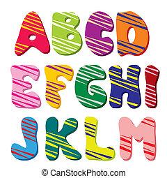 1), alfabeto, (part