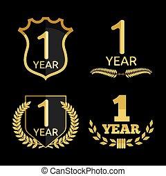 1, anno, anniversario, set