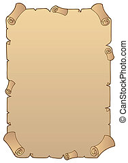 1, antiga, scroll papel