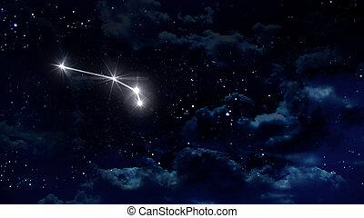 1 Aries Horoscope night white
