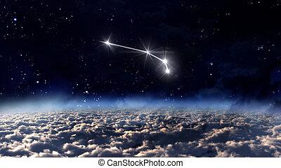 1 Aries Horoscope space white
