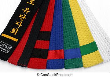 1, arts martiaux, ceintures