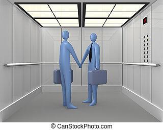 #1, ascenseur