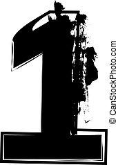 1, astratto, numero