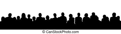 1, audience, silhouette