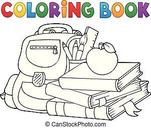 1, ausrüstung, schule, farbton- buch