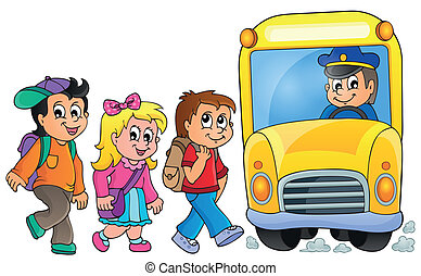 1, autocarro, escola, imagem, topic