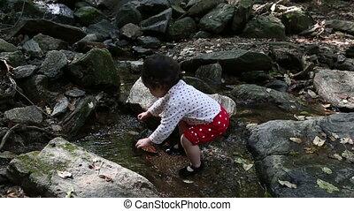 1, bébé bébé, ruisseau