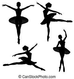 1, bailarín de ballet clásico, -, siluetas