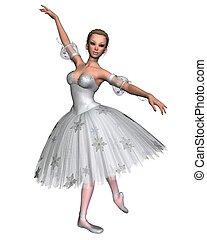 1, balerina, -, płatek śniegu