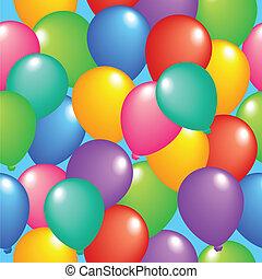 1, ballons, seamless, achtergrond