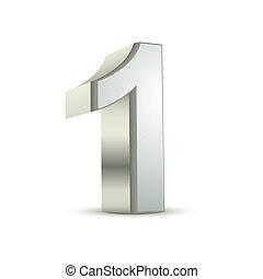 1, baluginante, argento, numero