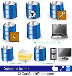 1, base données, icônes