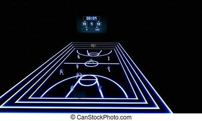 1, basket-ball, animation