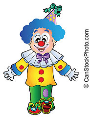 1, beeld, spotprent, clown