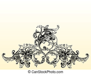 1, bloeien, illustratie