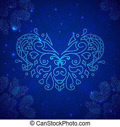 1. Blue Valentines heart
