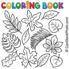 1, boek, thema, kleuren, bladeren