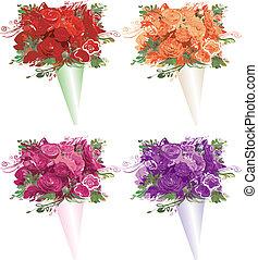 1, bouquets