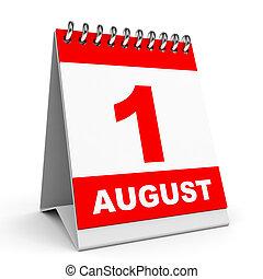 1, calendar., august.