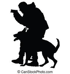 1, cane, polizia