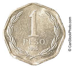 1, chileno, moneda, peso