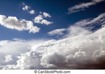 1, chmury, niebo