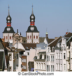 1, cidade, edifícios, antigas