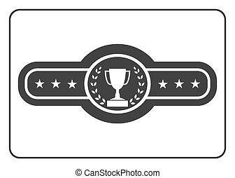 1, cinturón, campeón, icono