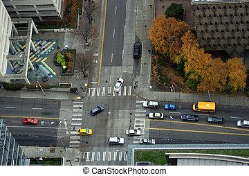 #1, ciudad grande, intersección