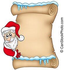 1, claus, hiver, santa, parchemin