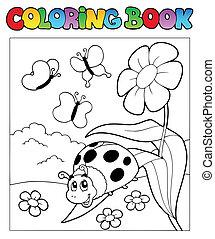 1, coccinelle, livre coloration
