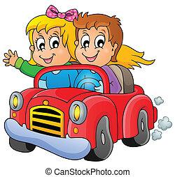 1, coche, tema, imagen