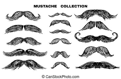 1, collection, moustache