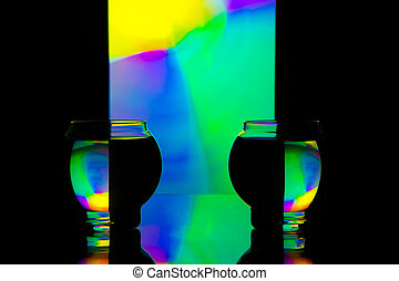 1, coloreado, reflexiones