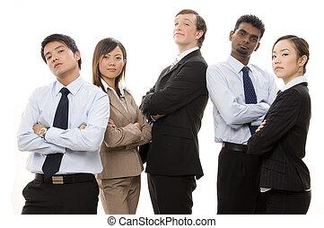 1, confiant, equipe affaires