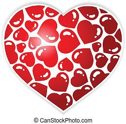 1, coração, tema, imagem