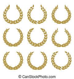 1, couronnes laurier