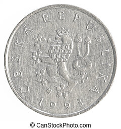 1 czech koruna coin
