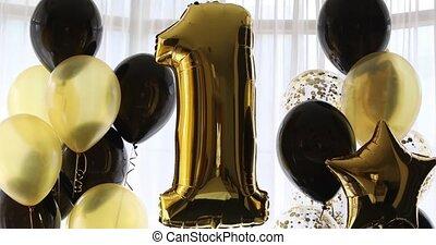 1, décoration, anniversaire, anniversaire, années